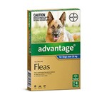 Advantage For Dogs Over 25kg Pkt 4