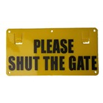 Sign please shut the gate EF15B Thunderbird