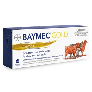 Baymec Gold 500ml Ivermectin Injectable (Noromectin Plus equivalent)