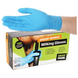 Milking Gloves Shoof Nitrile Lg/100