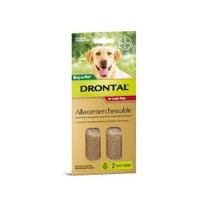Drontal Allwormer Chewable for Large Dogs 2 Pack