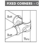 Fixed Corner 32 Butt x 40 Thru Packaged