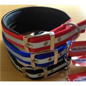 Nylon Padded Collar Reflective 65cm All Colours