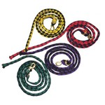 "Hand Plaited Nylon Lead Rope 11/4"" Brass Snap all Colours"