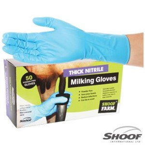 Milking Gloves Thick Nitrile Medium/50